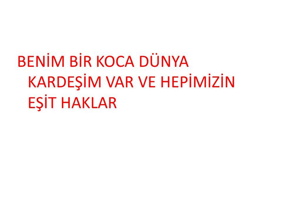 FARKLI BİR YERDE DE OLSAM OKULA GİTMEK BENİM HAKKIM !!!