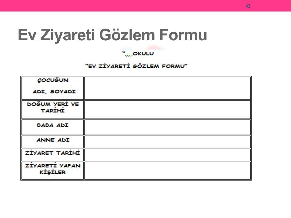 Ev Ziyareti Gözlem Formu 42