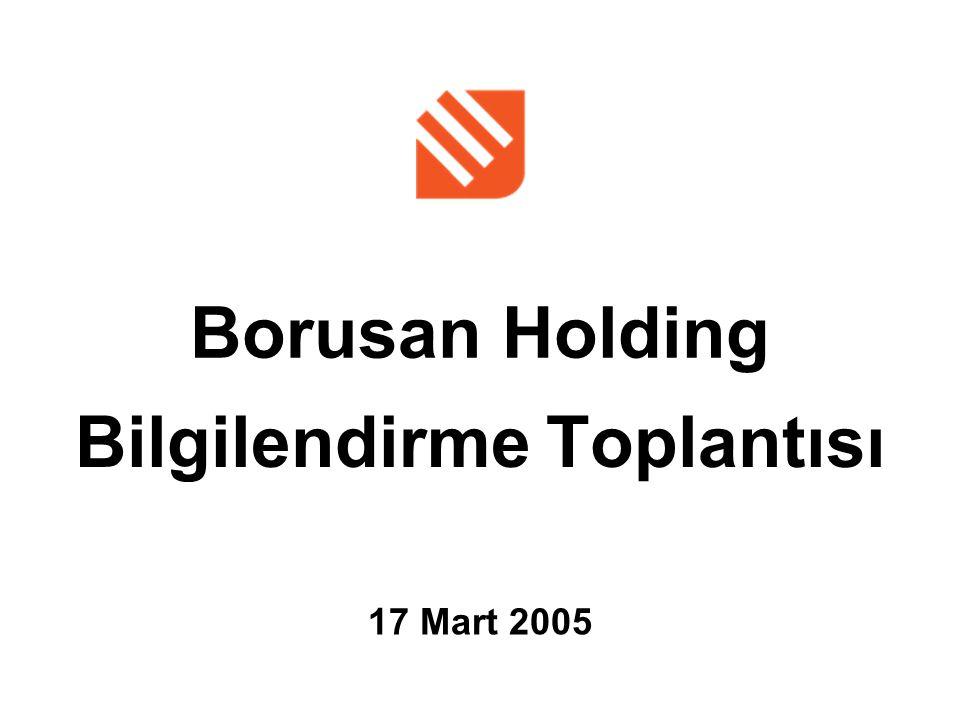 Borusan Holding Bilgilendirme Toplantısı 17 Mart 2005