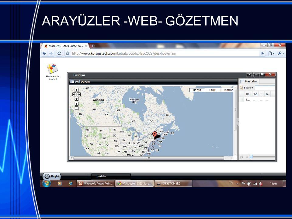 ARAYÜZLER -WEB- GÖZETMEN