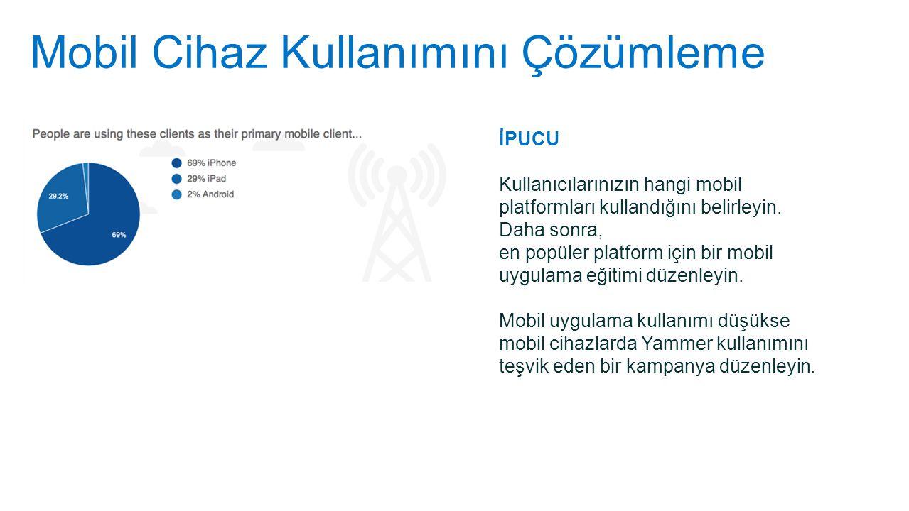Mobil Cihaz Kullanımını Çözümleme İPUCU Kullanıcılarınızın hangi mobil platformları kullandığını belirleyin. Daha sonra, en popüler platform için bir