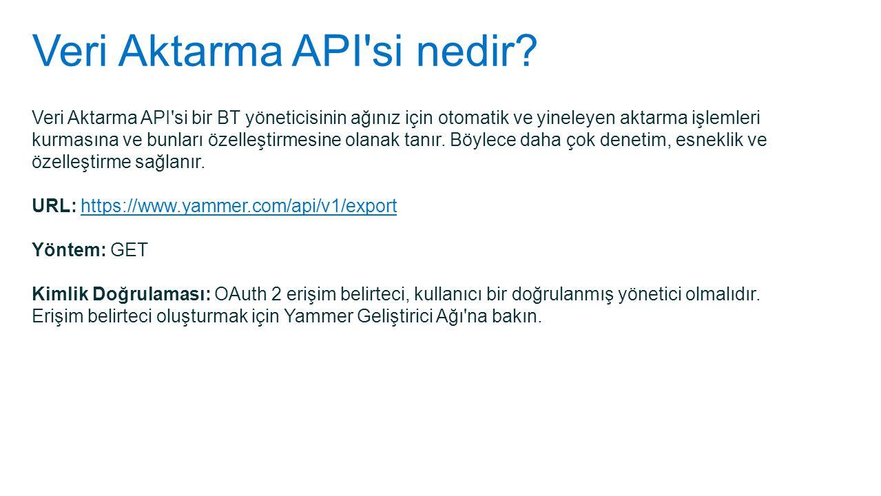 Veri Aktarma API'si nedir? Veri Aktarma API'si bir BT yöneticisinin ağınız için otomatik ve yineleyen aktarma işlemleri kurmasına ve bunları özelleşti
