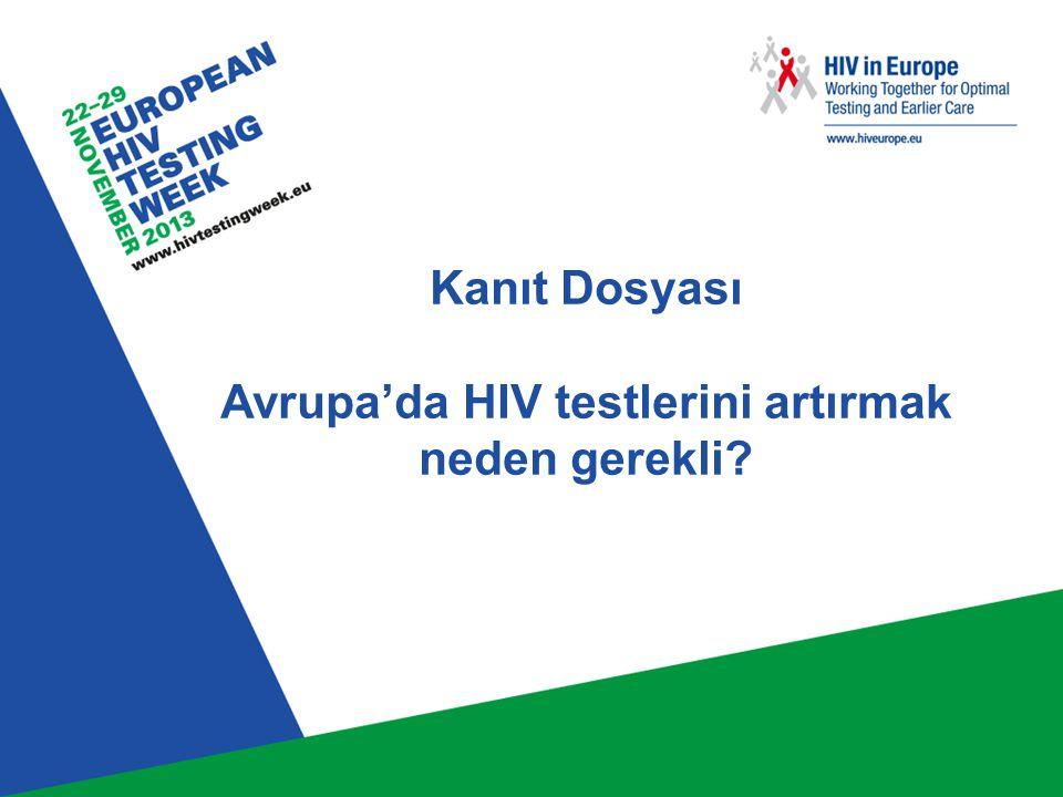 İçindekiler HIV epideminizi tanıyın – Avrupa'da HIV HIV enfeksiyonunda geç tanı Geç HIV tanısı alan bireylerin özellikleri Geç tanının sonuçları HIV testi önündeki engeller HIV testi önündeki engelleri aşmak İzleme ve değerlendirme Sonuçlar