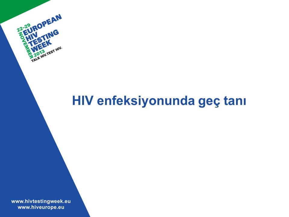 HIV enfeksiyonunda geç tanı