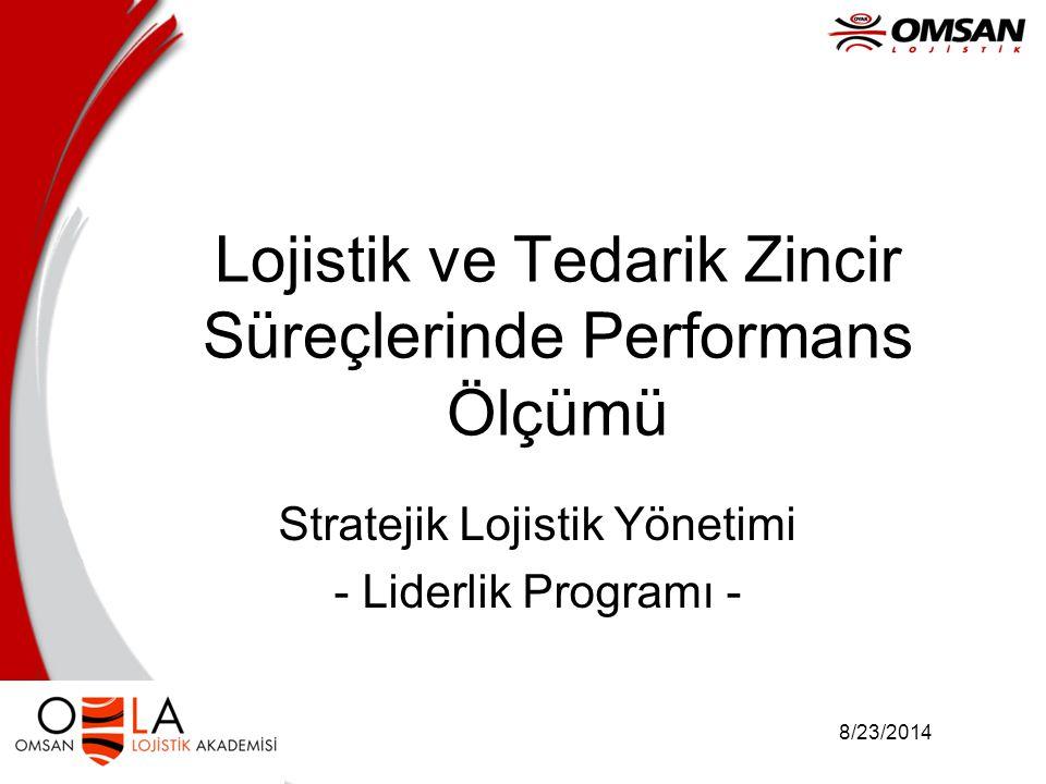 8/23/2014 Lojistik ve Tedarik Zincir Süreçlerinde Performans Ölçümü Stratejik Lojistik Yönetimi - Liderlik Programı -