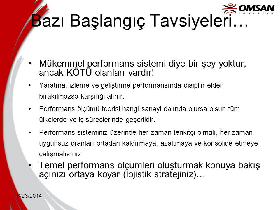 8/23/2014 Bazı Başlangıç Tavsiyeleri… Mükemmel performans sistemi diye bir şey yoktur, ancak KÖTÜ olanları vardır! Yaratma, izleme ve geliştirme perfo
