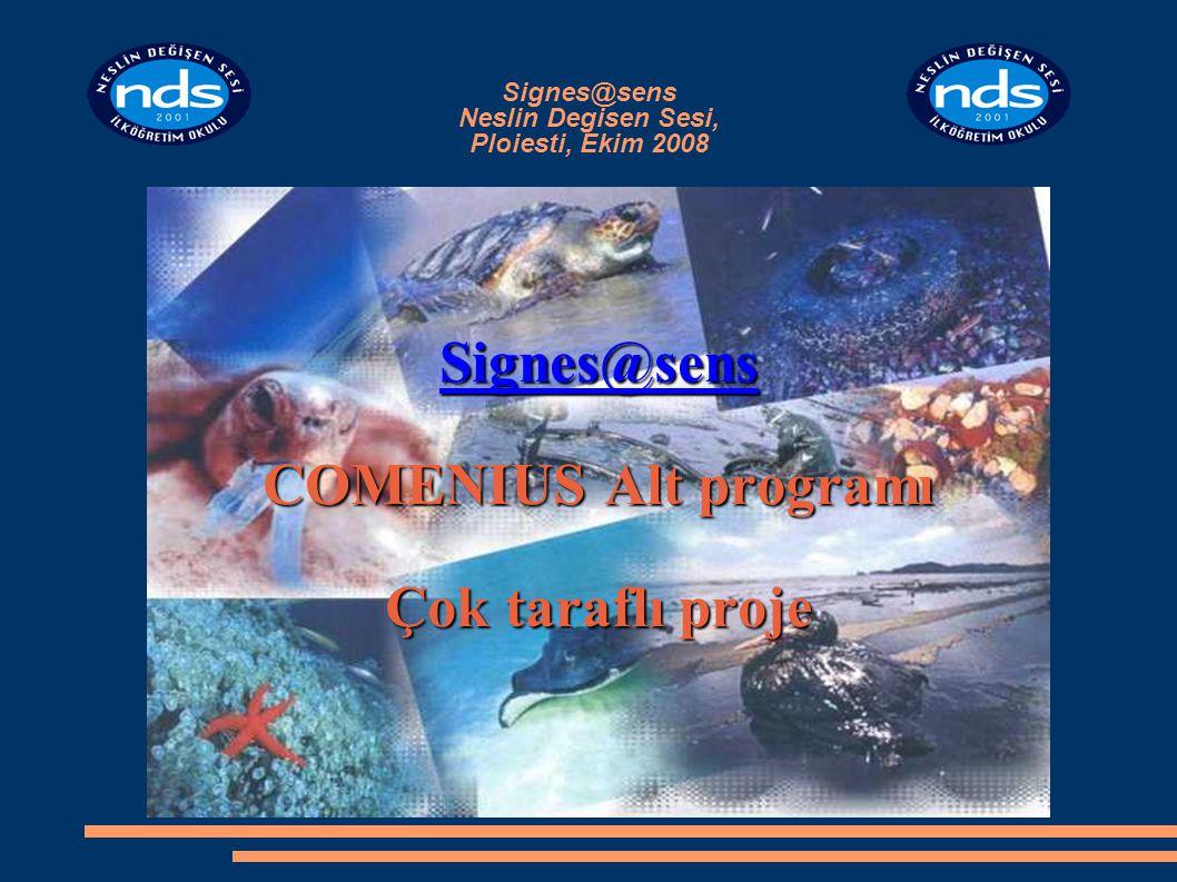 Signes@sens Neslin Degisen Sesi, Ploiesti, Ekim 2008 Signes@sens COMENIUS Alt programı Çok taraflı proje