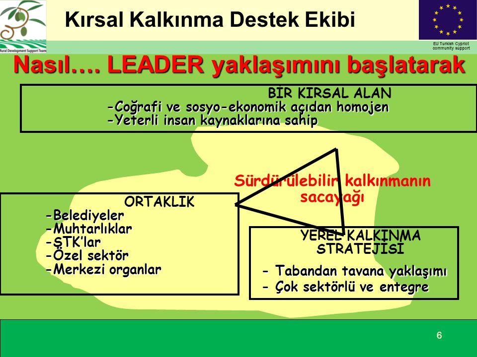Kırsal Kalkınma Destek Ekibi EU Turkish Cypriot community support 7 Bu hedefe nasıl ulaşacağız...