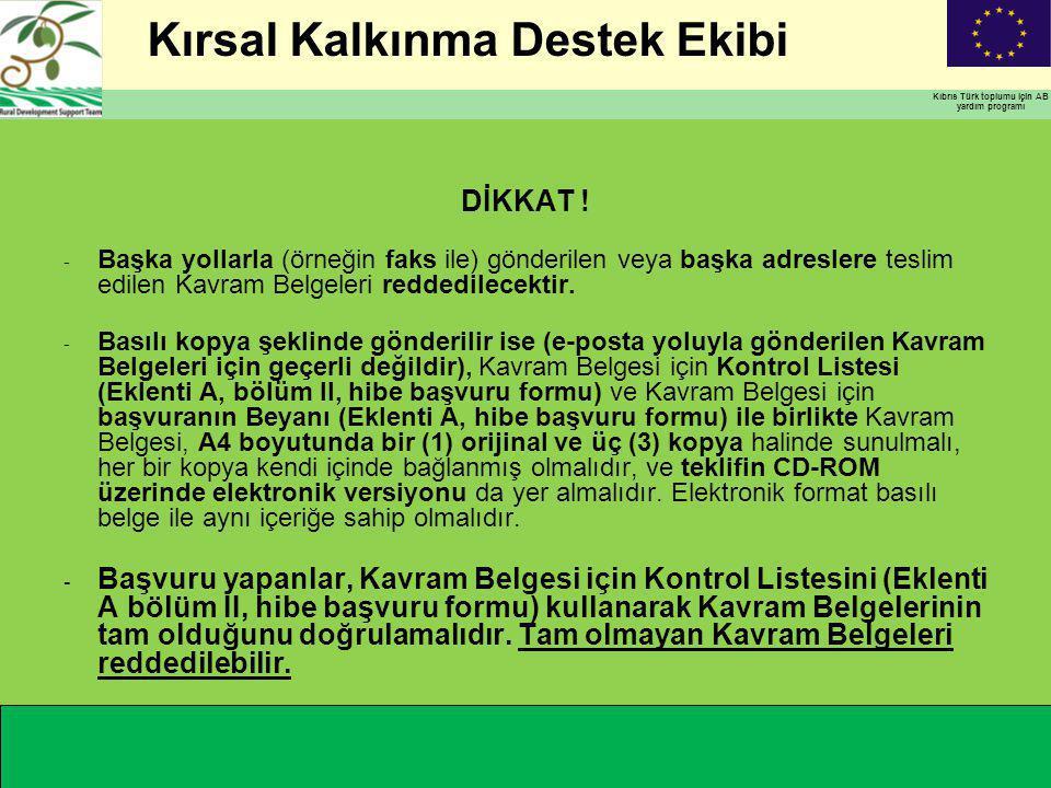 Kırsal Kalkınma Destek Ekibi Kıbrıs Türk toplumu için AB yardım programı DİKKAT .