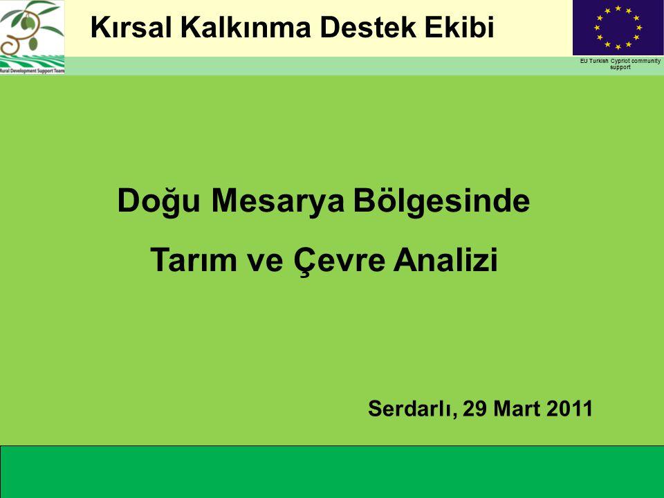 Kırsal Kalkınma Destek Ekibi EU Turkish Cypriot community support Doğu Mesarya Bölgesinde Tarım ve Çevre Analizi Serdarlı, 29 Mart 2011