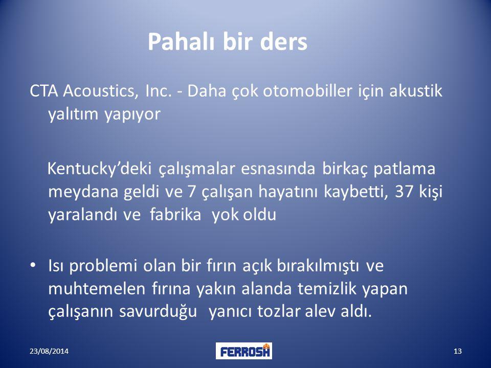 23/08/201413 Pahalı bir ders CTA Acoustics, Inc.