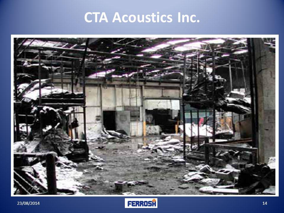 23/08/201414 CTA Acoustics Inc.
