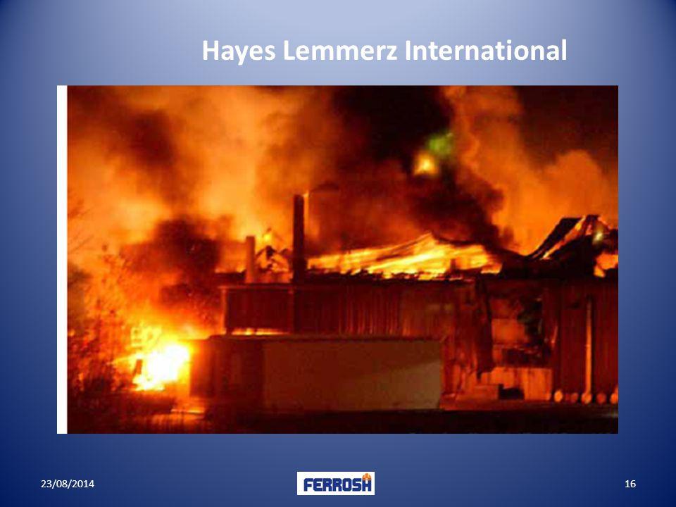 23/08/201416 Hayes Lemmerz International