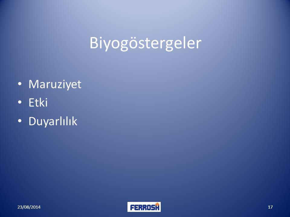Biyogöstergeler Maruziyet Etki Duyarlılık 23/08/201417