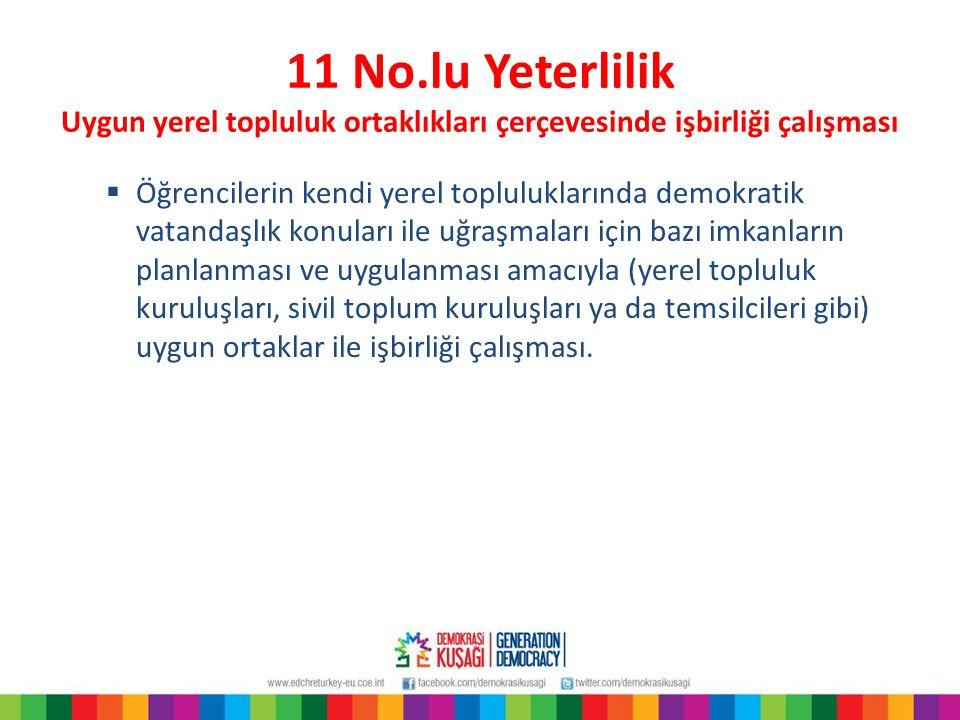12 No.lu Yeterlilik Ayrımcılığın tüm biçimleriyle mücadele stratejileri  Her türden önyargı ve ayrımcılık ile mücadele ve ırkçılık karşıtlığının teşvik edilmesine yönelik stratejiler.