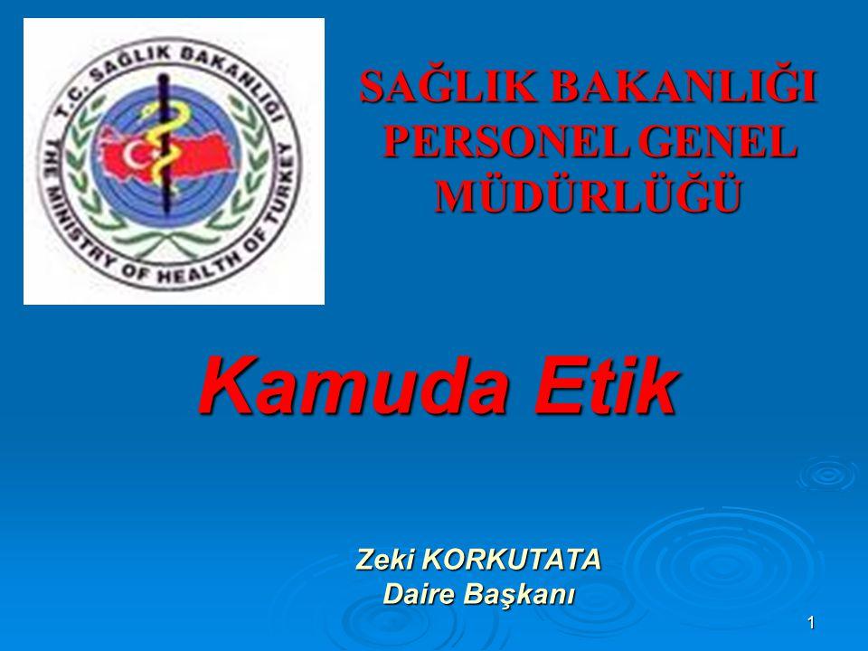 22 K - KGEK'NUN GÖREV VE YETKİLERİ  Etik davranış ilkelerinin, kamu görevlilerine uygulanan temel, hazırlayıcı ve hizmet içi eğitim programlarında yer alması, kurum ve kuruluş yöneticilerince sağlanır.