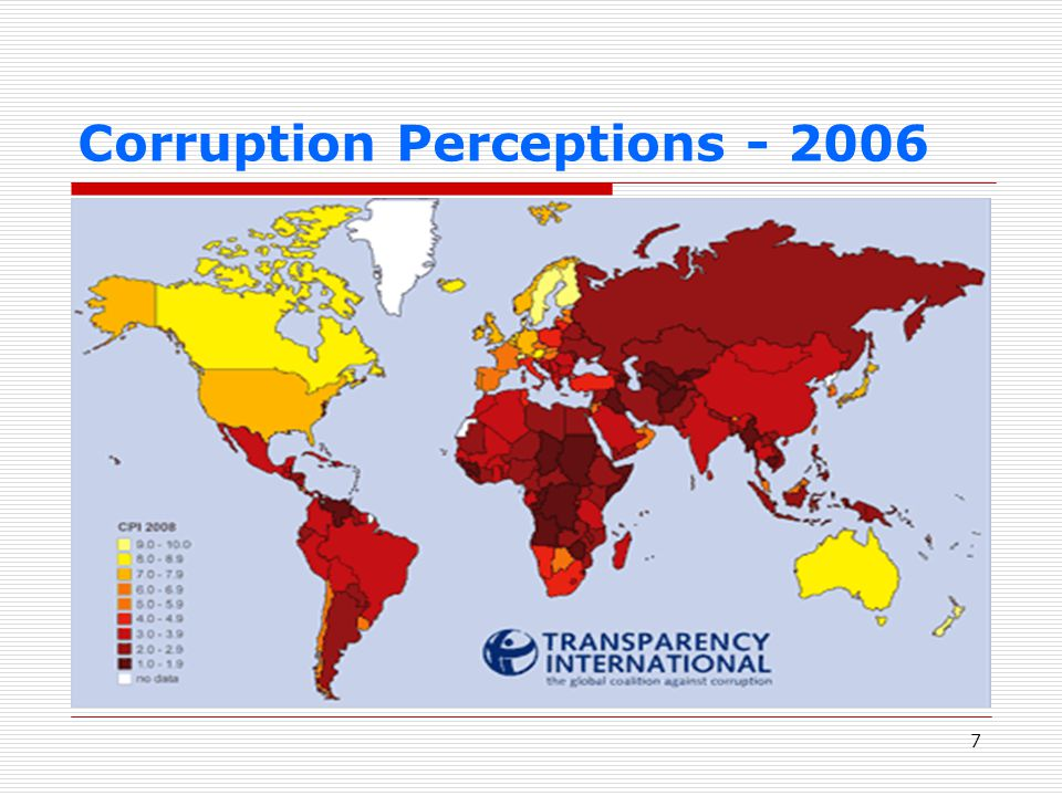 7 Corruption Perceptions - 2006