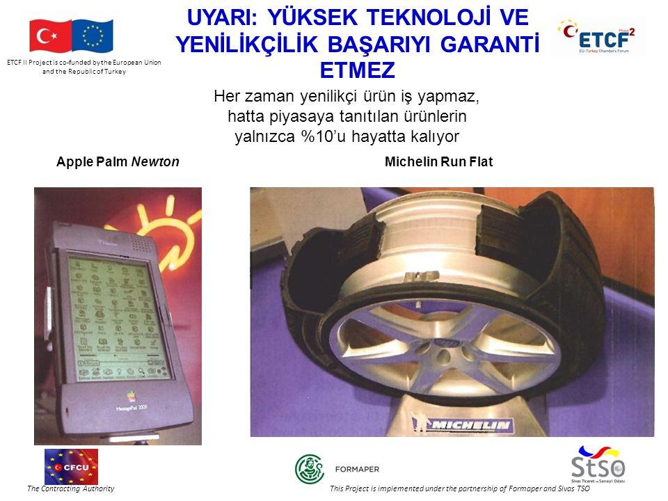 ETCF II Project is co-funded by the European Union and the Republic of Turkey The Contracting Authority This Project is implemented under the partnership of Formaper and Sivas TSO YENİLİKÇİ TEŞEBBÜSLER 10'dan fazla çalışanı olan, üretim yapan teşebbüslerin %38'inin yeni veya geliştirilmiş teknolojik ürün ve hizmet tanıtımı Ortalama Çalışan KüçükOrta Büyük