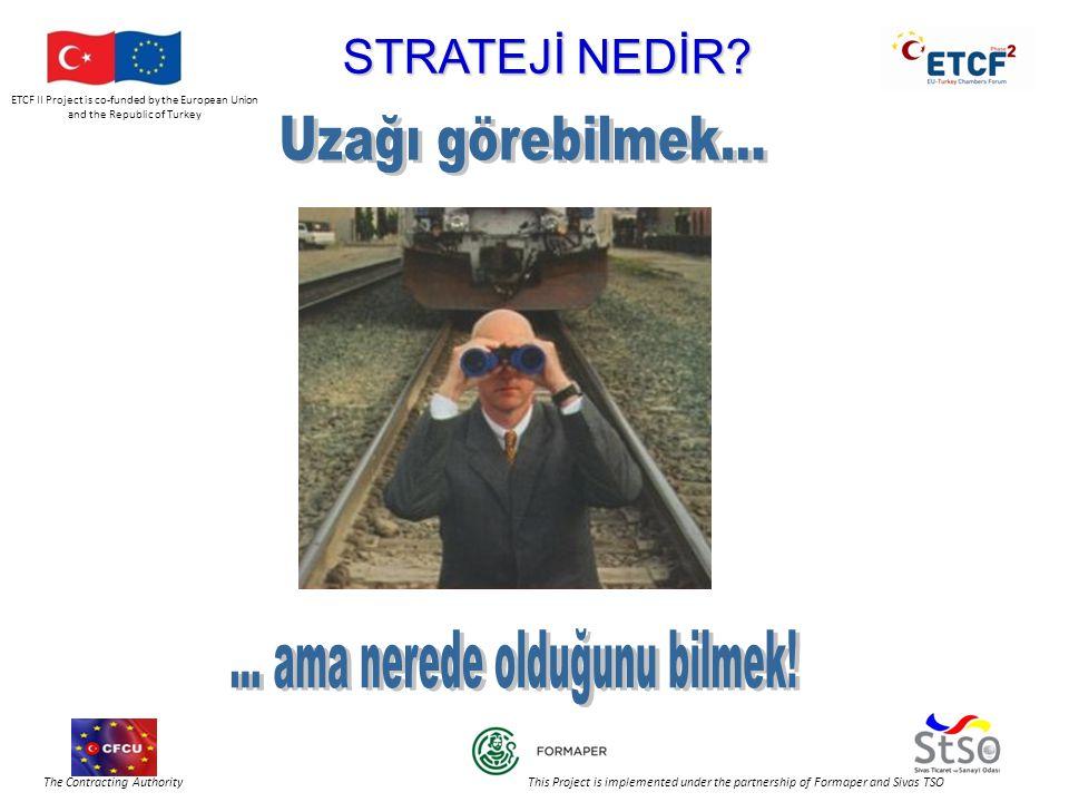 ETCF II Project is co-funded by the European Union and the Republic of Turkey The Contracting Authority This Project is implemented under the partnership of Formaper and Sivas TSO PİYASAYA GİRME YOLLARI SatışStratejik VADE Kısa vadeliUzun vadeli HEDEF PİYASASeçilmemişSeçilmiş HEDEF Derhal satışPiyasada kalıcı bir yer KAYNAKLAR Satışı artırmak için gerekli Piyasadaki yeri iyileştirmek için gerekli GİRİŞ YOLLARISistematik değilSistematik YENİ ÜRÜN GELİŞTİRMESİ Yerel piyasada aynıYeni ürün geliştirir DAĞITIM KANALLARI KontrolsüzKontrollü FİYATÜretim maliyeti + Pay Rakiplere bağlı TANITIMSatıcılarReklam ve satış tanıtımları