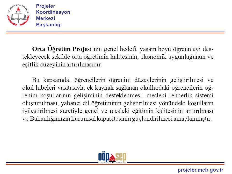 projeler.meb.gov.tr Projeler Koordinasyon Merkezi Başkanlığı 1- ORTA ÖĞRETİM REFORMU a.