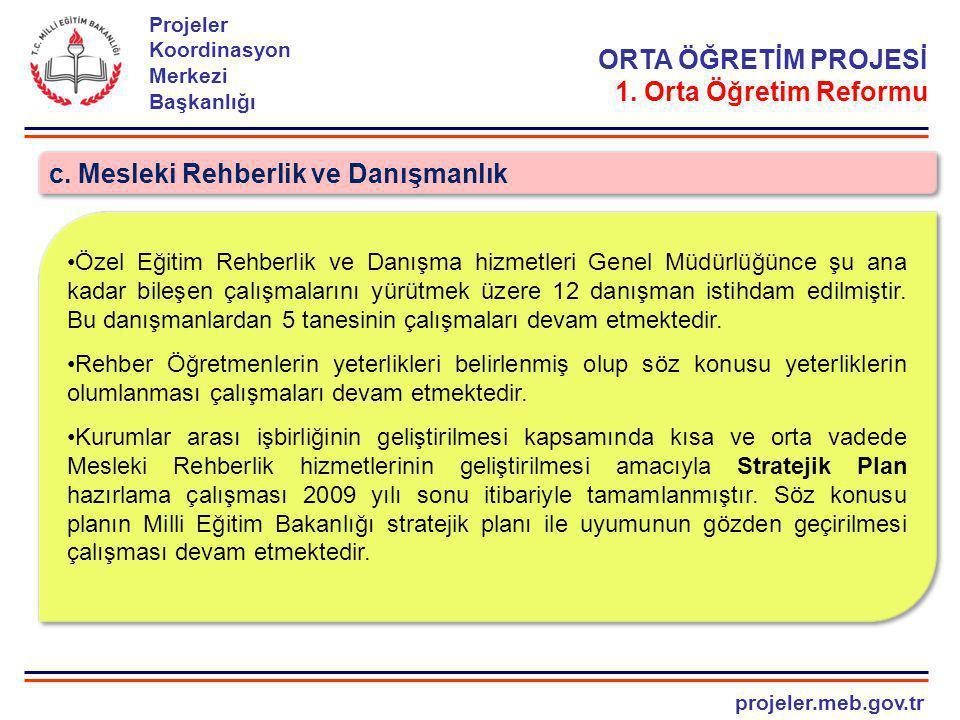 projeler.meb.gov.tr Projeler Koordinasyon Merkezi Başkanlığı ORTA ÖĞRETİM PROJESİ 3.