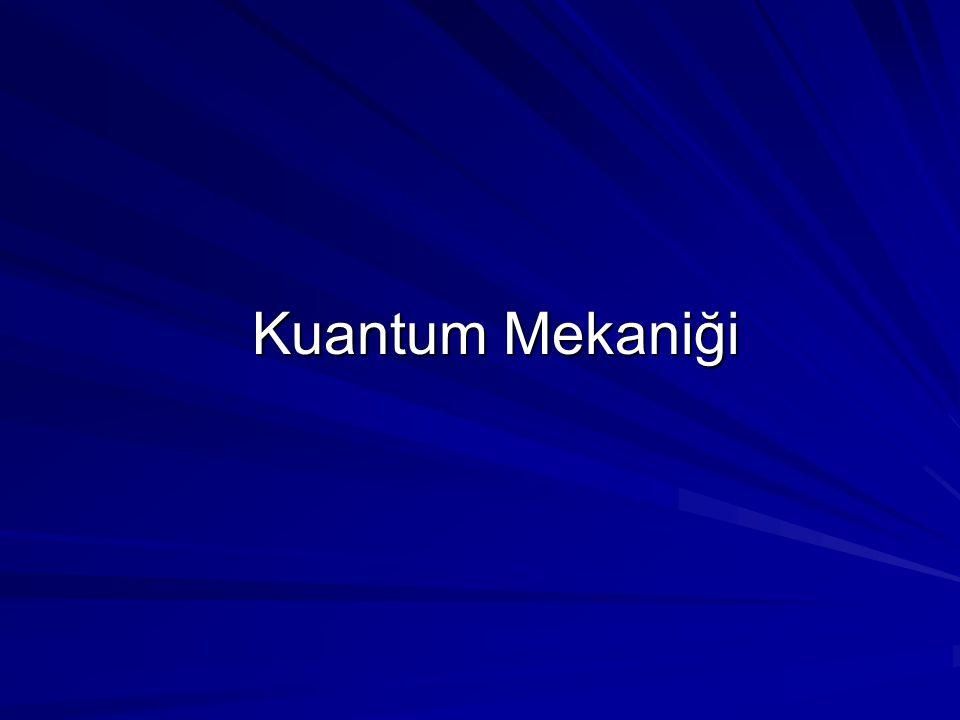 Kuantum Mekaniği