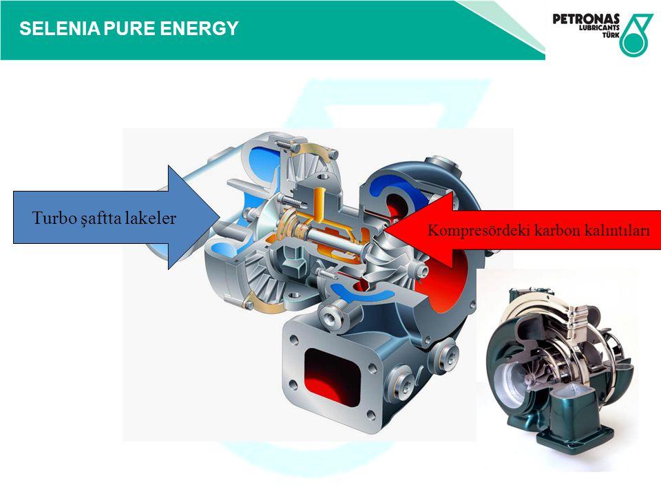 SELENIA PURE ENERGY Turbo şaftta lakeler Kompresördeki karbon kalıntıları
