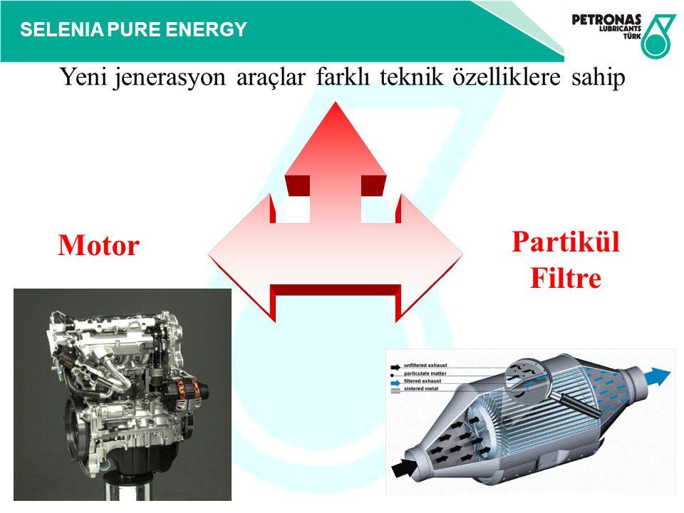 SELENIA PURE ENERGY Yeni jenerasyon araçlar farklı teknik özelliklere sahip Motor Partikül Filtre