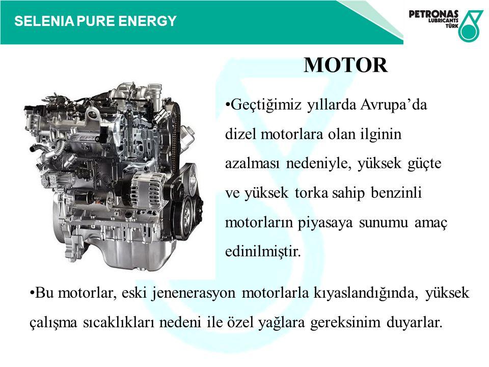 SELENIA PURE ENERGY Geçtiğimiz yıllarda Avrupa'da dizel motorlara olan ilginin azalması nedeniyle, yüksek güçte ve yüksek torka sahip benzinli motorla
