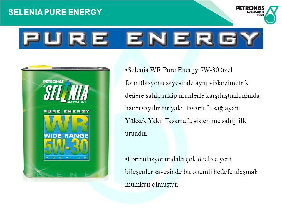 SELENIA PURE ENERGY Selenia WR Pure Energy 5W-30 özel formülasyonu sayesinde aynı viskozimetrik değere sahip rakip ürünlerle karşılaştırıldığında hatı