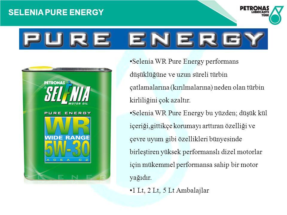 SELENIA PURE ENERGY Selenia WR Pure Energy performans düşüklüğüne ve uzun süreli türbin çatlamalarına (kırılmalarına) neden olan türbin kirliliğini ço