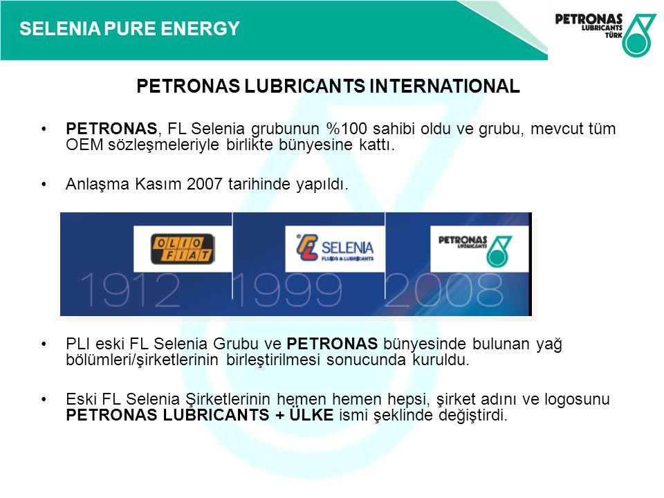 SELENIA PURE ENERGY PETRONAS, FL Selenia grubunun %100 sahibi oldu ve grubu, mevcut tüm OEM sözleşmeleriyle birlikte bünyesine kattı. Anlaşma Kasım 20