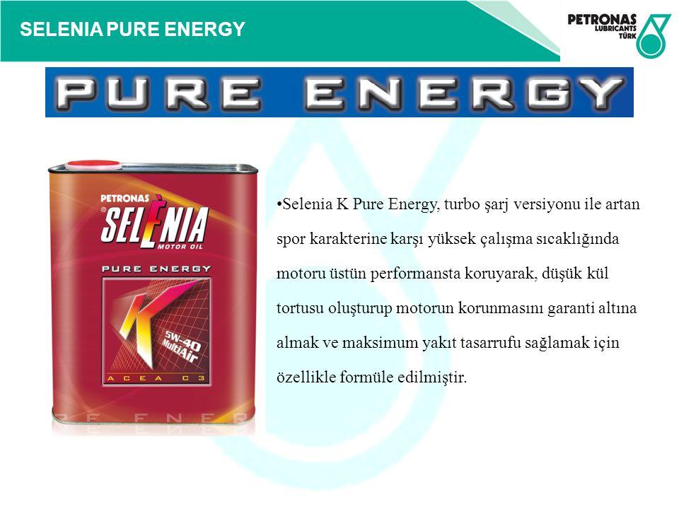 SELENIA PURE ENERGY Selenia K Pure Energy, turbo şarj versiyonu ile artan spor karakterine karşı yüksek çalışma sıcaklığında motoru üstün performansta