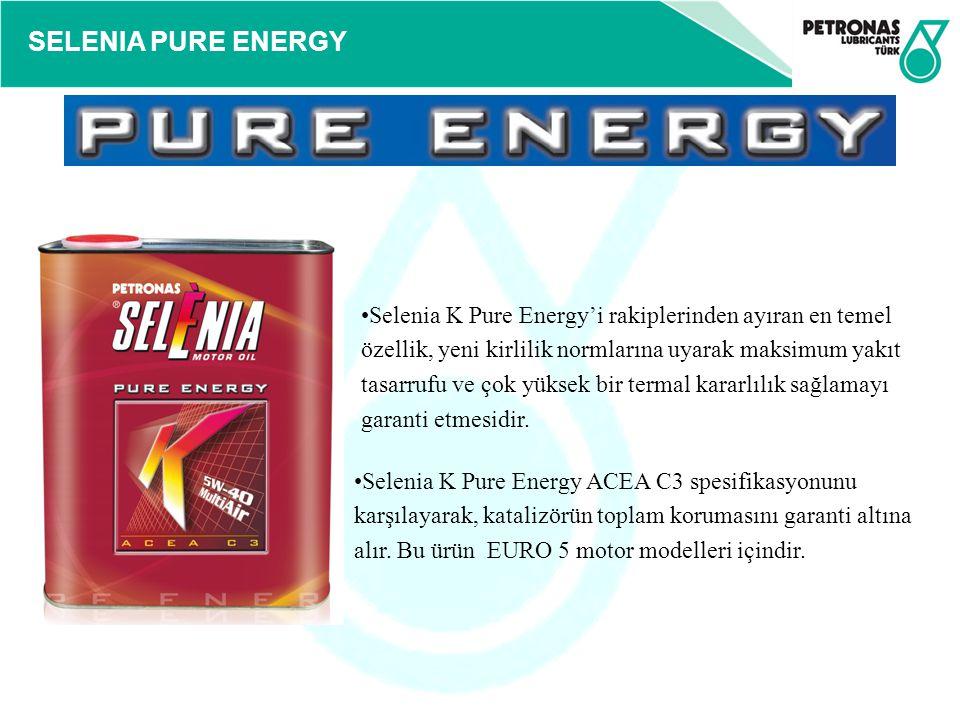SELENIA PURE ENERGY Selenia K Pure Energy'i rakiplerinden ayıran en temel özellik, yeni kirlilik normlarına uyarak maksimum yakıt tasarrufu ve çok yük
