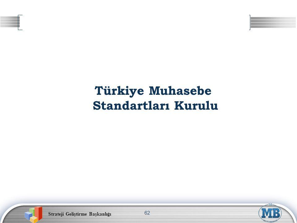 Strateji Geliştirme Başkanlığı 62 Türkiye Muhasebe Standartları Kurulu