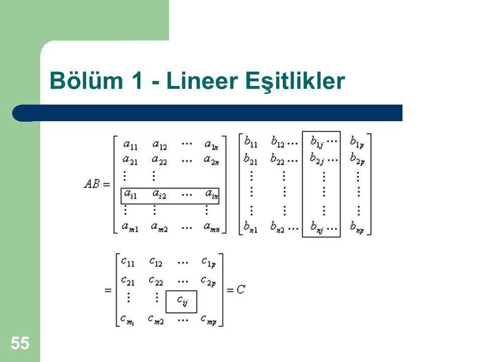 55 Bölüm 1 - Lineer Eşitlikler