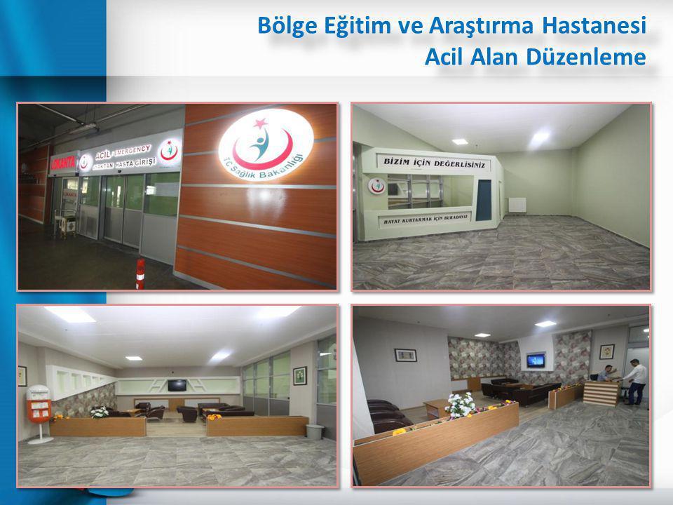 Bölge Eğitim ve Araştırma Hastanesi Acil Alan Düzenleme