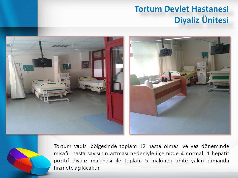 Tortum Devlet Hastanesi Diyaliz Ünitesi Tortum vadisi bölgesinde toplam 12 hasta olması ve yaz döneminde misafir hasta sayısının artması nedeniyle ilç