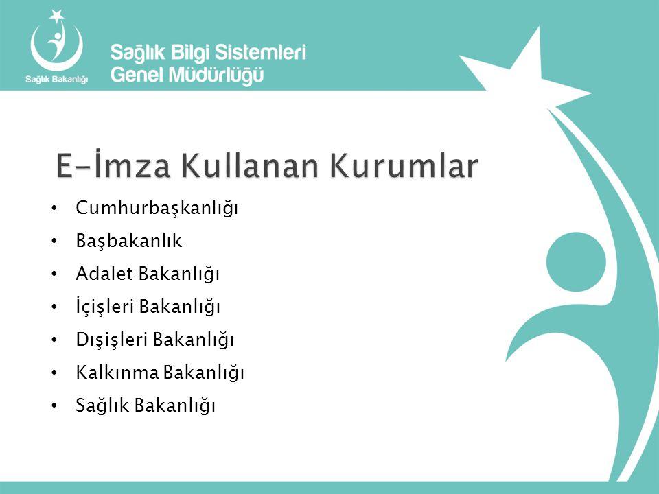 Sağlık Bilgi Sistemleri Genel Müdürlüğünün tüm teşkilatımıza gönderdiği 07.11.2012 tarih ve B.10.0.SBS.0.08.00.00/700/3626 sayılı yazısı ile elektronik imza temin süreci başlatılmıştır.