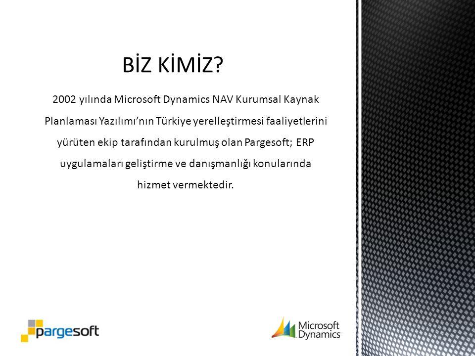 2002 yılında Microsoft Dynamics NAV Kurumsal Kaynak Planlaması Yazılımı'nın Türkiye yerelleştirmesi faaliyetlerini yürüten ekip tarafından kurulmuş olan Pargesoft; ERP uygulamaları geliştirme ve danışmanlığı konularında hizmet vermektedir.