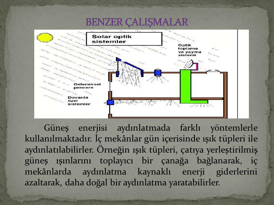 Güneş enerjisi aydınlatmada farklı yöntemlerle kullanılmaktadır.
