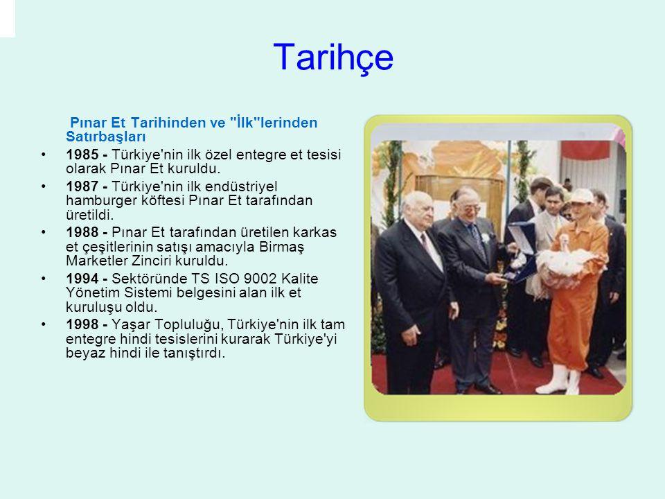 2000 - Pınar Et tarafından dilimli şarküteri ürünleri, ilk kez clean room (temiz oda) teknolojisi ile hijyenik koşullarda üretildi.