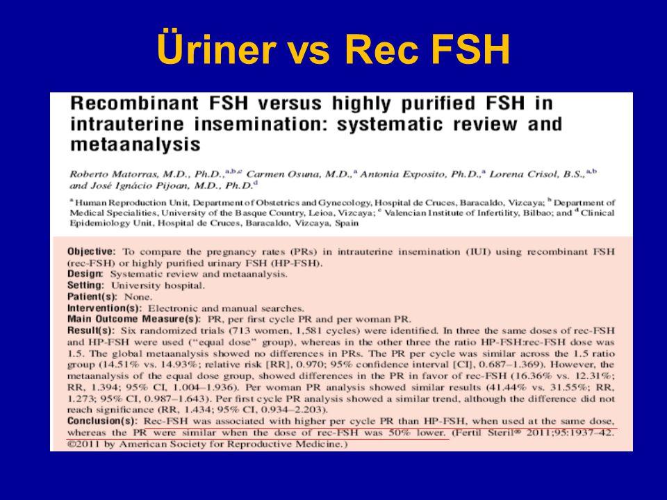 Üriner vs Rec FSH