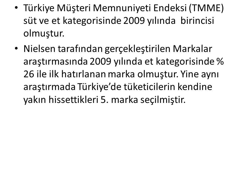 Türkiye Müşteri Memnuniyeti Endeksi (TMME) süt ve et kategorisinde 2009 yılında birincisi olmuştur.