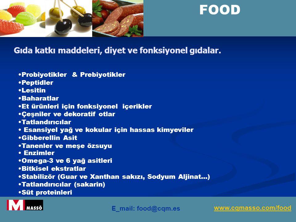 www.cqm.es/fcr Gıda katkı maddeleri, diyet ve fonksiyonel gıdalar.