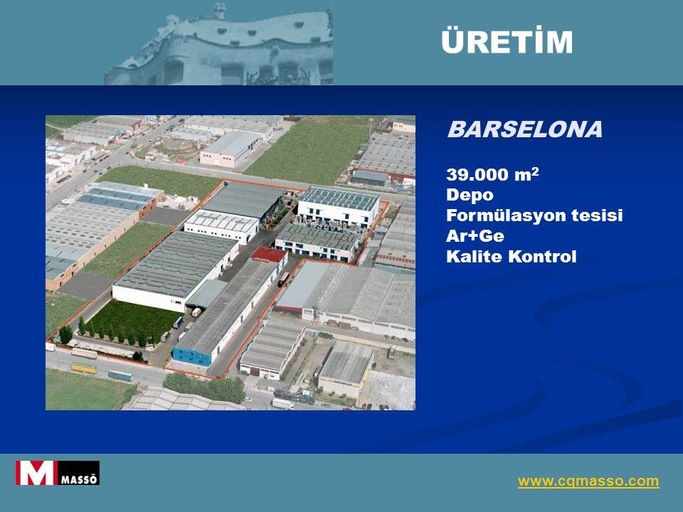 BARSELONA 39.000 m 2 Depo Formülasyon tesisi Ar+Ge Kalite Kontrol ÜRETİM www.cqmasso.com