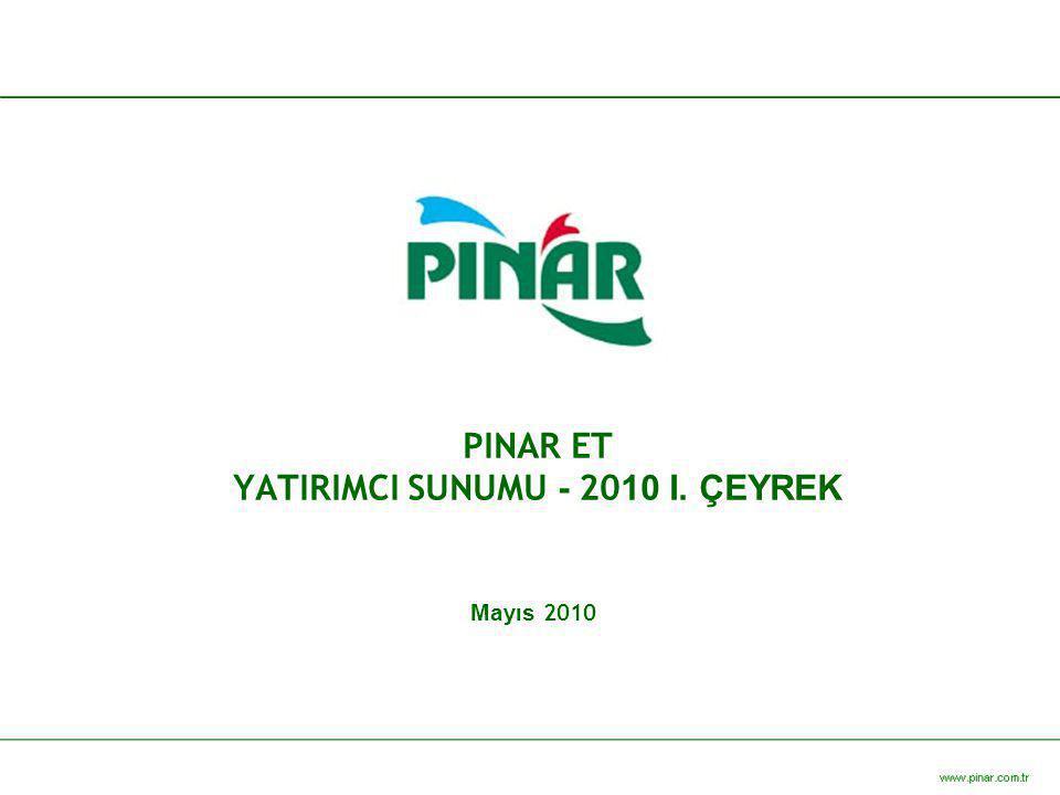 PINAR ET YATIRIMCI SUNUMU - 20 10 I. ÇEYREK Mayıs 2010