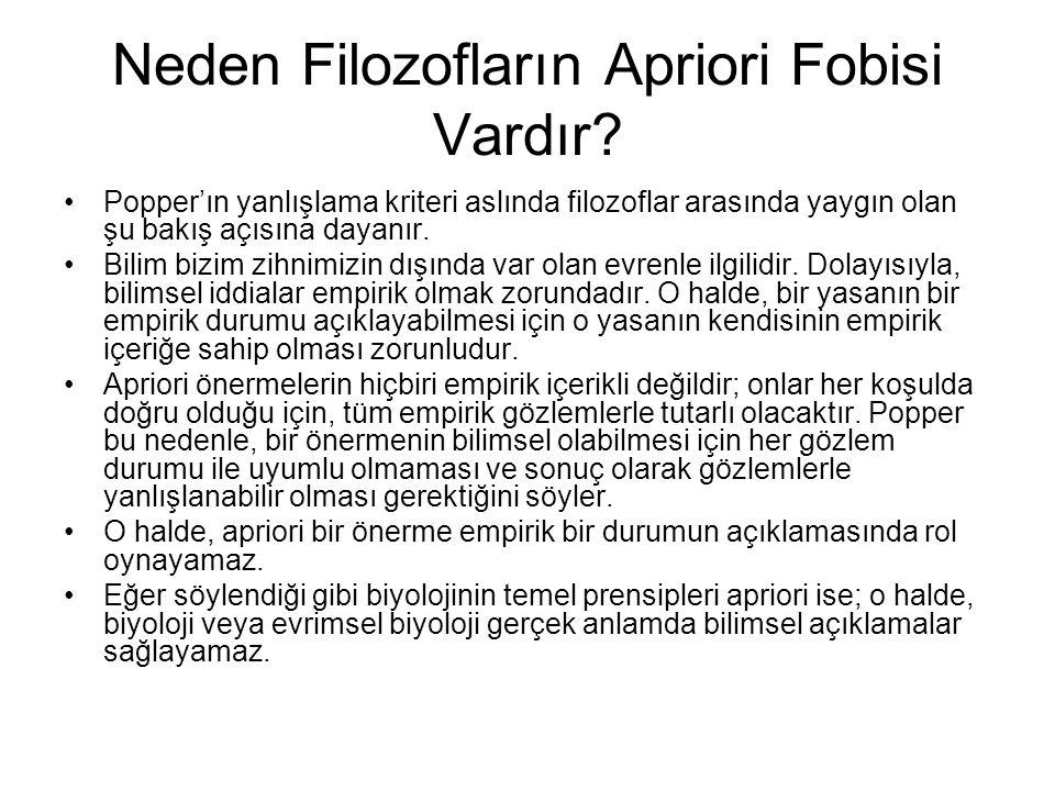 Neden Filozofların Apriori Fobisi Vardır.