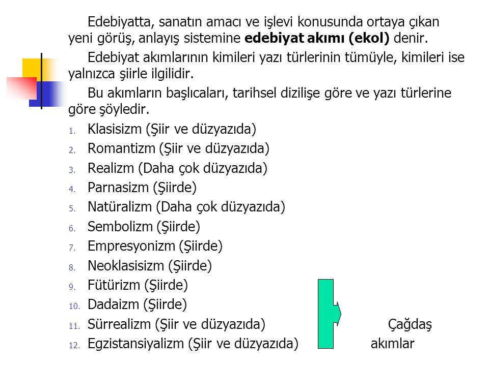 TÜRK EDEBİYATINDA SEMBOLİZM Sembolizm, Türk şiirini en çok etkileyen akımlardandır.
