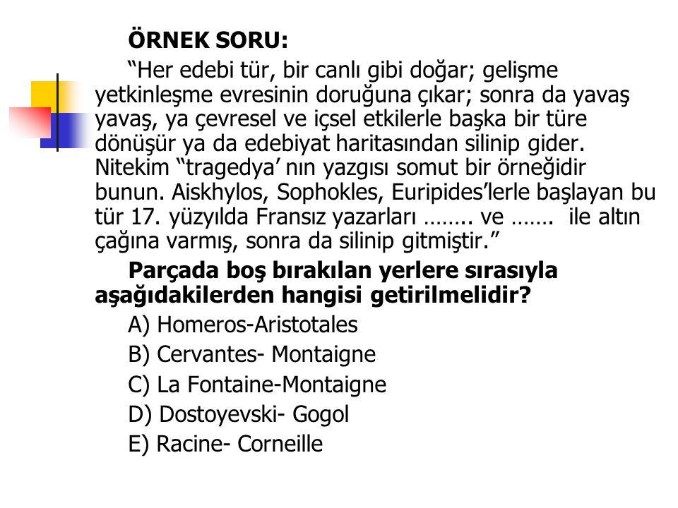 TÜRK EDEBİYATINDA KLASİSİZM Türk edebiyatında klasisizm, bilinçli bir çizgide izlenmemiştir.